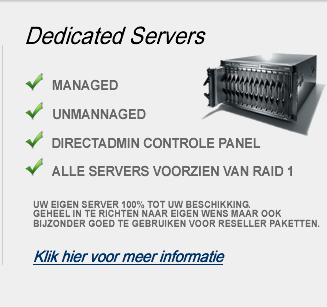 Dedicated hosting: Een server